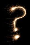 маркируйте sparkler вопроса Стоковые Фотографии RF