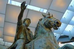 Маркус Aurelius на Musei Capitolini, Риме Стоковое Фото