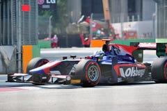Маркус Ericsson участвуя в гонке в GP 2012 Сингапур Стоковые Фото