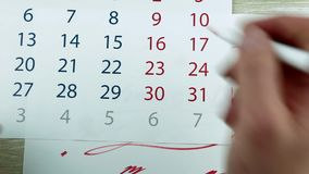 Марк в календаре 8-ого марта акции видеоматериалы
