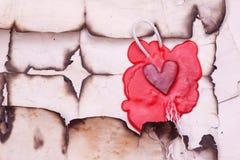 Марк в форме сердца стоковые фотографии rf
