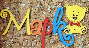 ` Марк ` имени - письма надписи деревянные Стоковое Изображение RF