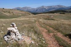 Марк на верхней части Monte Moricone Стоковые Фото