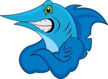 Марлин рыб шаржа Стоковые Фотографии RF
