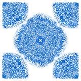 Марокканец кроет орнаменты черепицей в голубых и белых цветах Стоковое Изображение