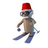 марокканец 3d катается на лыжах Стоковые Изображения RF