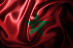 Марокканський Silk флаг сатинировки Стоковые Фото