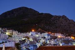 Марокко Голубой medina города Chefchaouen Стоковое Фото