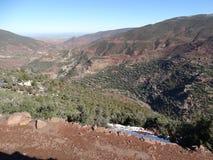 Марокко Идти снег горы атласа Стоковое Изображение RF