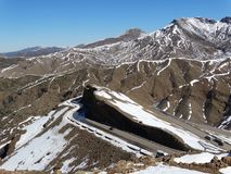 Марокко Идти снег горы атласа Стоковое Фото
