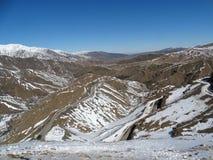 Марокко Идти снег горы атласа Стоковое фото RF