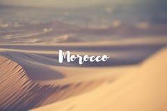 Марокко песок Сахары дюн пустыни Стоковое Изображение