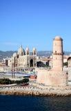 марсель гавани города собора ближайше стоковое фото rf