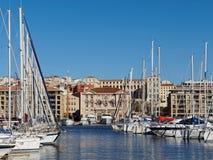 Марсель, здание муниципалитет и гавань, Франция Стоковая Фотография