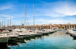 Марсель старого порта стоковое фото rf