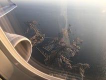 Марсель Франция Провансаль моря солнца мухы равнины неба стоковая фотография rf