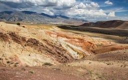 Марсианский ландшафт Kyzyl-Chin Стоковое фото RF