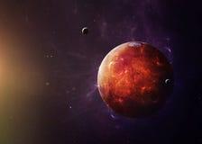Марс от космоса показывая всем их красота Стоковые Фото