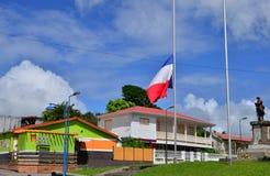 Мартиника, живописный город румян Morne; в Вест-Индиях стоковые изображения rf