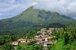 Мартиника, живописный город румян Morne; в Вест-Индиях стоковые фото