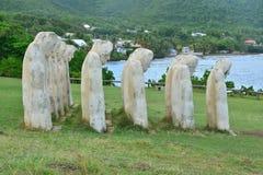 Мартиника, живописный город Le diamant в Вест-Индиях Стоковое Изображение RF