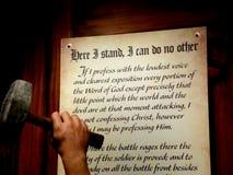 Мартин Luther 95 тезиса Стоковые Фотографии RF