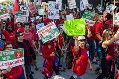 Март для образования Лос-Анджелеса стоковое изображение rf