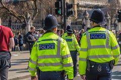 Март для сторонников brexit 29-ого марта 2019 стоковое фото