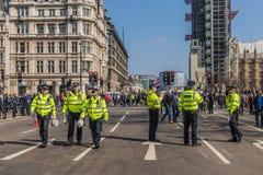 Март для сторонников brexit 29-ого марта 2019 стоковые фото