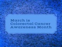 Март колоректальный месяц осведомленности рака Стоковые Изображения RF