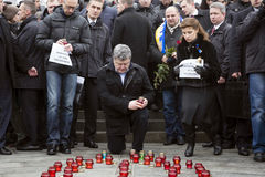 Март солидарности против терроризма на Киеве Стоковое Фото
