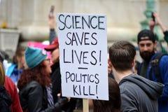 Март для науки Стоковые Изображения