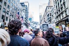 Март 2017 NYC женщин Стоковые Изображения RF