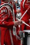маршировать барабанщиков полосы Стоковое Изображение