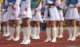 маршировать девушок полосы Стоковые Фото