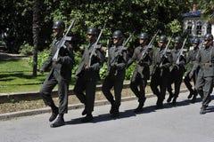 маршируя воины турецкие Стоковое Изображение
