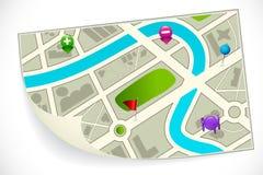 Маршрутная карта дороги бесплатная иллюстрация