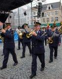 Марш диапазона в Брюгге Стоковое Изображение