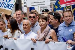 Марш для голосования ` s людей Стоковые Изображения RF