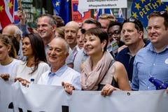 Марш для голосования ` s людей Стоковое фото RF