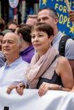 Марш для голосования ` s людей Стоковая Фотография