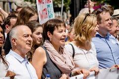 Марш для голосования ` s людей Стоковая Фотография RF
