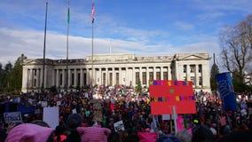 Марш женщин на Олимпии 2017 Стоковое Изображение
