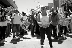 марш иммиграции Стоковые Фотографии RF