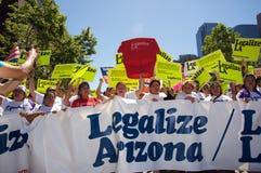 марш иммиграции Стоковое фото RF