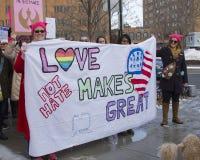 Марш Коннектикут женщин hartford -го Стоковое фото RF
