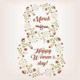 Марш поздравительной открытки дня женщин s Стоковые Фотографии RF
