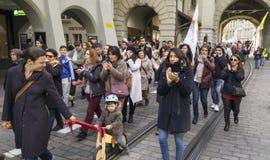 Марш протеста против Erdogan в Bern, Швейцарии Стоковые Изображения