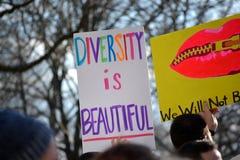 Марш протеста Стоковая Фотография
