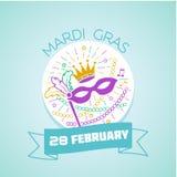 Марди Гра 28-ое февраля Стоковое фото RF